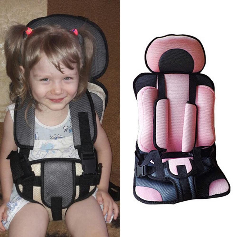 Asiento de coche de bebé 0-5 años Niños portátil asientos de coche de seguridad para bebé Sillas ajustables Actualizado Asientos Versión para niños de espesamiento