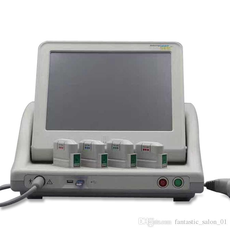 Gerçek Tıp Sınıf Yüksek Yoğunluk Odaklı Ultrason HIFU Yüz Germe Makinası Kırışıklık Temizleme Anti 5 Kafalı yüz ve vücut için Yaşlanma HIFU