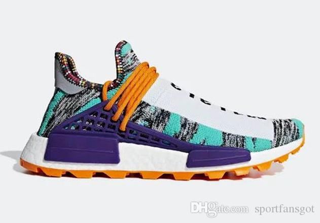 the best attitude 87edc 69025 2018 Pharrell Human Race Trail Solar Pack Purple BB9531 BB9527 Bb9528 Top  Basf Human Race Shoes Men Women Sneakers Running Shoes Mens Womens Trail ...