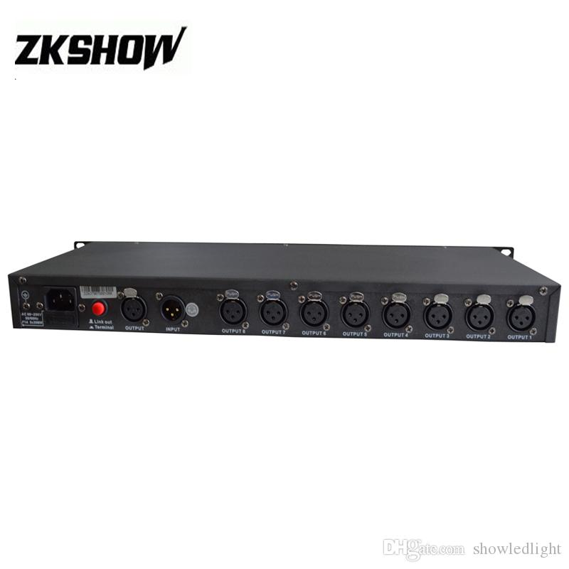 DJ Lichteffekt DMX512 1990 Standard Signal Verteiler 8DXBU 230V Verstärker Splitter Repeater XLR Pin3 Ein Eingang CE UL Freies Verschiffen