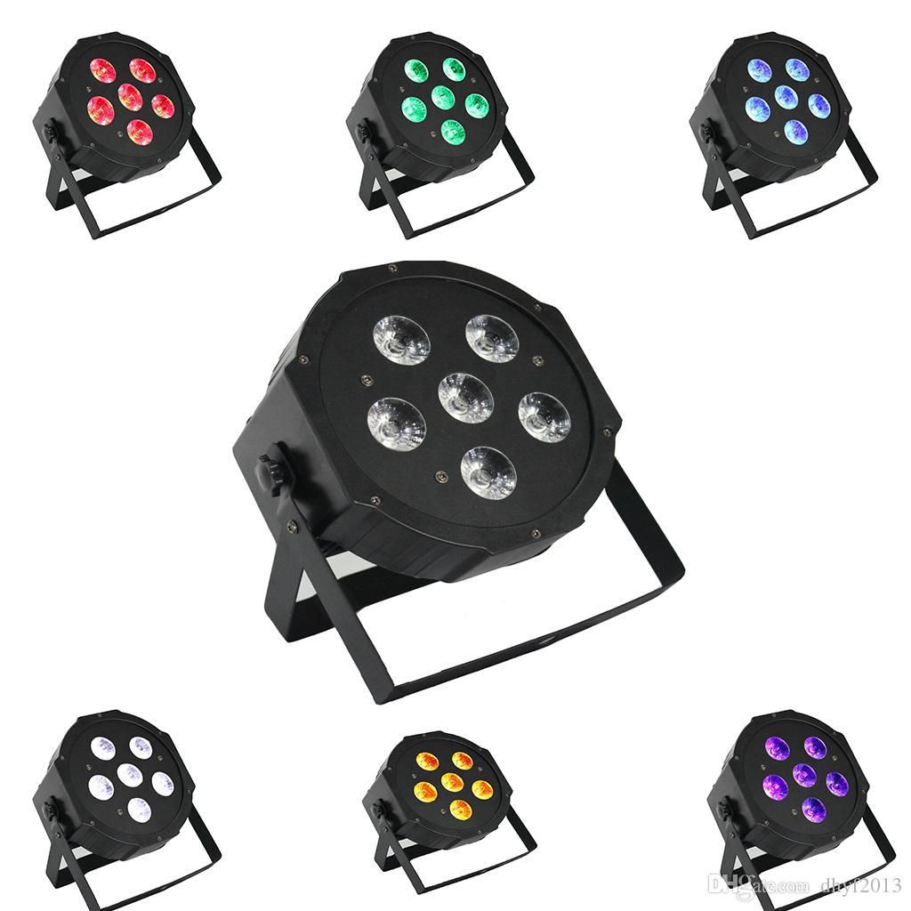 6 in 1 UV Par Aydınlatma RGBWA Dans Poşeti Sahne Parti Glow Düğün Cadılar Bayramı Yapıt 6 LED Için LED Yıkama Blacklight