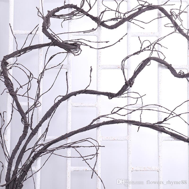 Flores artificiais Plantas de seda Casamento Casa Pano de fundo Partido Decoração Árvore Galho Ramo Para Decoração Jardim Pendurado Rattan Flexível Flor Videiras