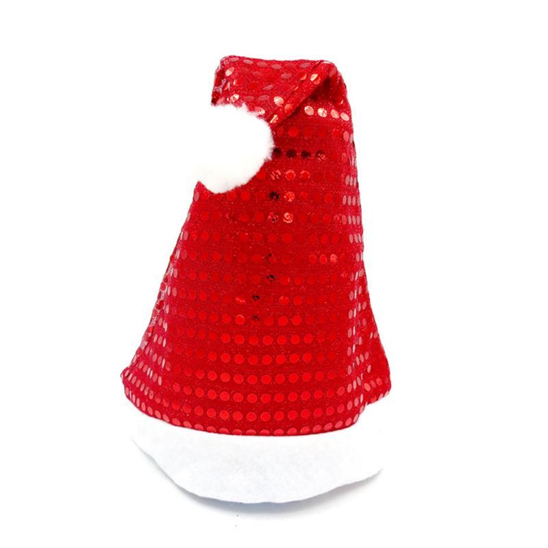 Glitter Red Santa cap Natale Copricapo brillante paillettes design Natale Cappelli Festival del partito accessori 12Pcs / Lot