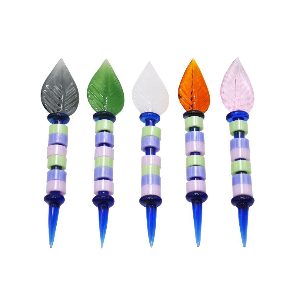 Новые поступления Premium Glass Dabbler 4,8 дюйма Wax DAB инструмент красочные толстые густые пирекс таббер инструменты кварцевые банзгарские ногти оптом