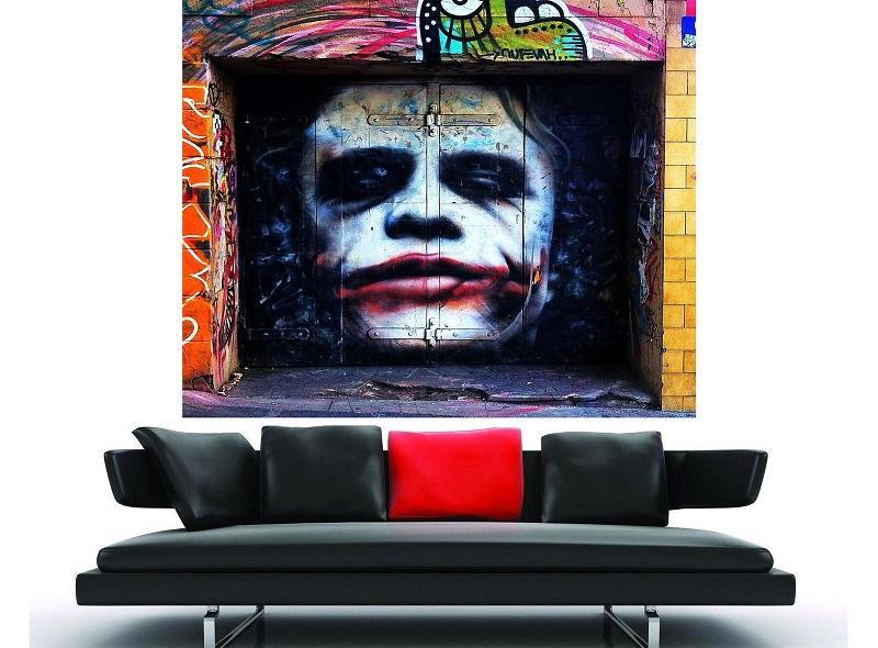 Graffiti Street art Gothic joker di alta qualità dipinta a mano HD stampa pittura a olio di arte della parete Home Deco su tela multi-dimensioni P194