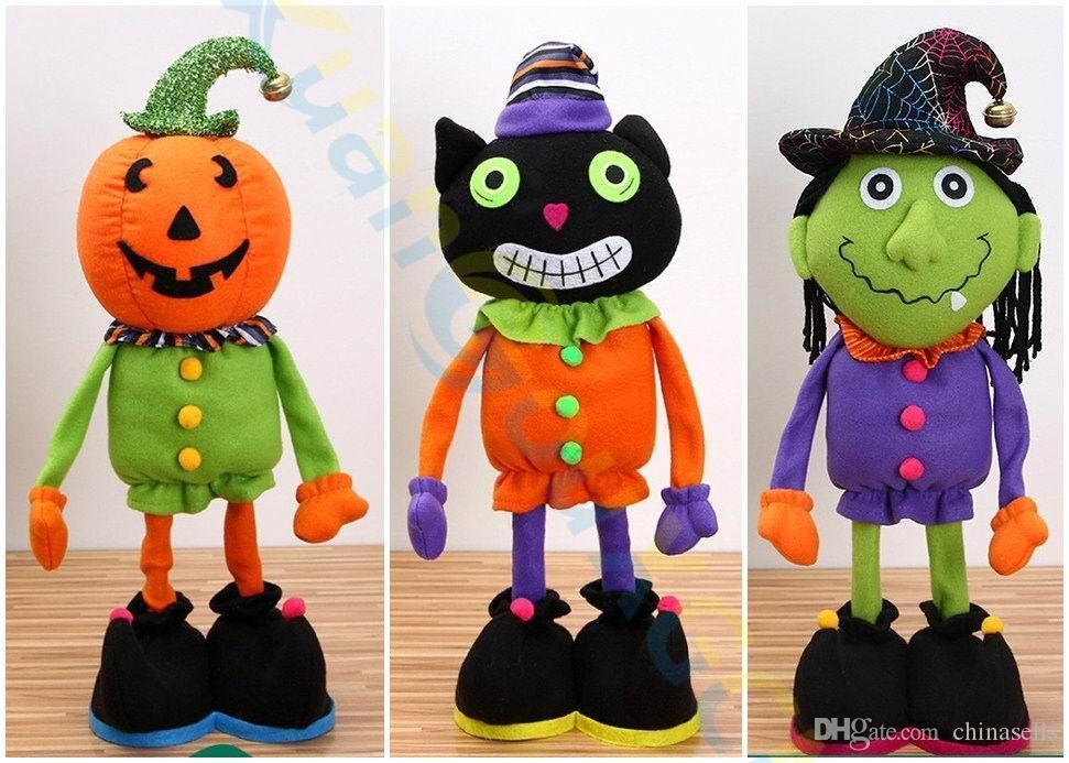 Хэллоуин пасхальные украшения фестиваль вечеринка главная бар реквизит поставки орнамент тыква ведьма черный кот выдвижной куклы детские игрушки
