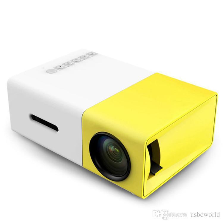 YG300 YG-300 LCD LED المحمولة العارض البسيطة 400-600LM 1080P فيديو 320 × 240 بكسل وسائل الإعلام LED مصباح لاعب أفضل تصميم المنزل حامي مهد