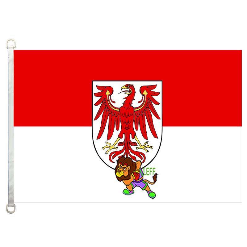 Brandenburg drapeau, 90 * 150cm, 100% polyester, bannière, Impression numérique