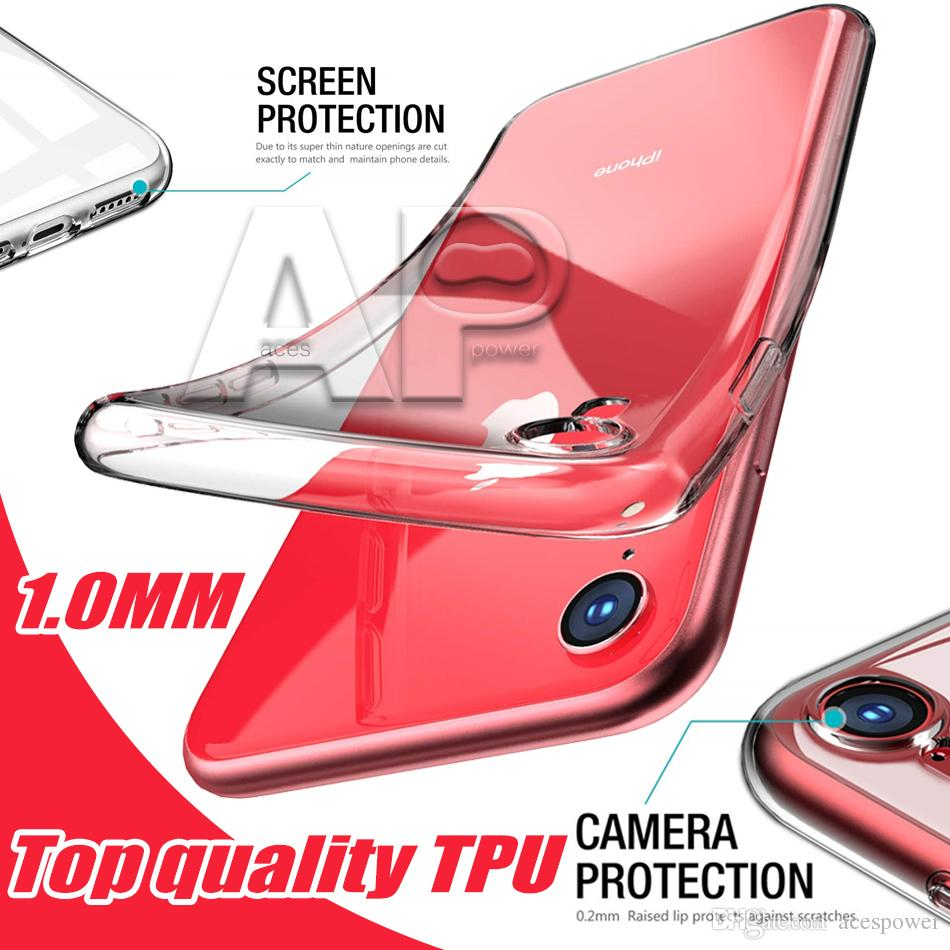 A Quality TPU Cases for Iphone 11 Pro XR XS MAX X Samsung S20 Ultra Note 10 9 S8 S9 Plus
