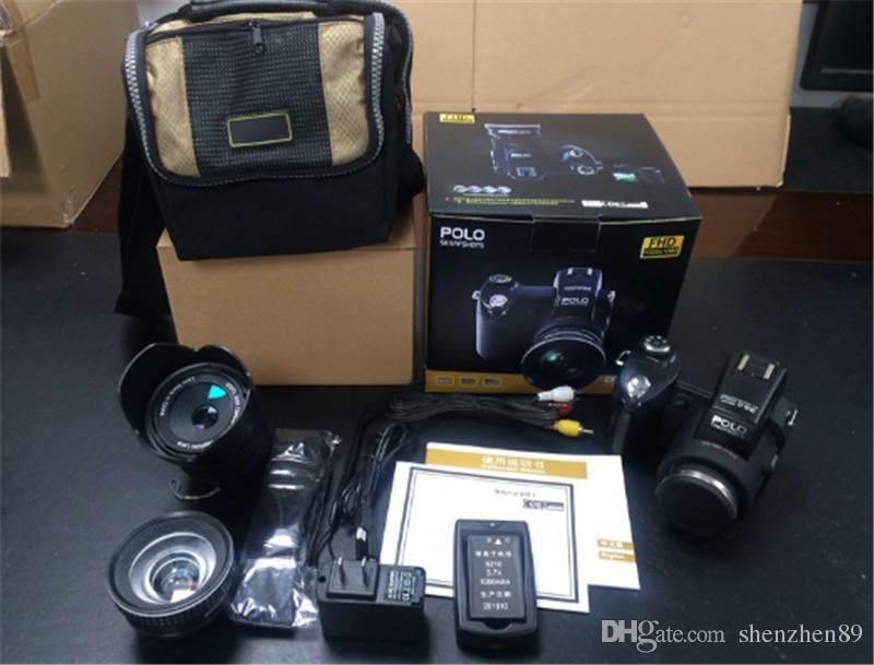 2017 Yeni PROTAX POLO D7100 dijital kamera 33MP TAM HD1080P 24X optik zoom Otomatik Odaklama Profesyonel Kamera