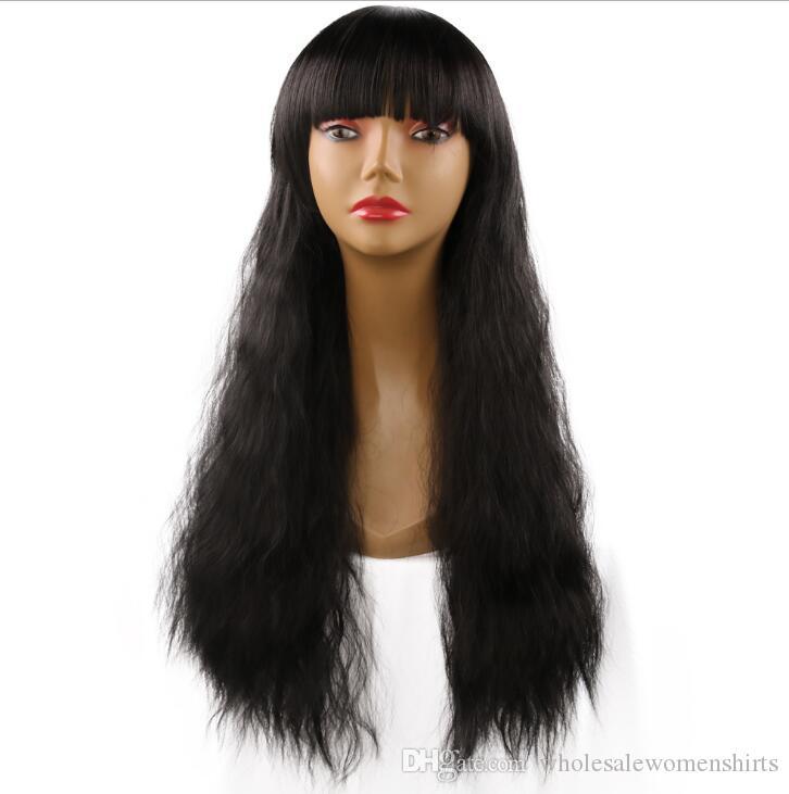 Модели взрыва европейские и американские парики женщин 25 дюймов парик волос многоцветные длинные вьющиеся волосы устанавливает синтетические парики