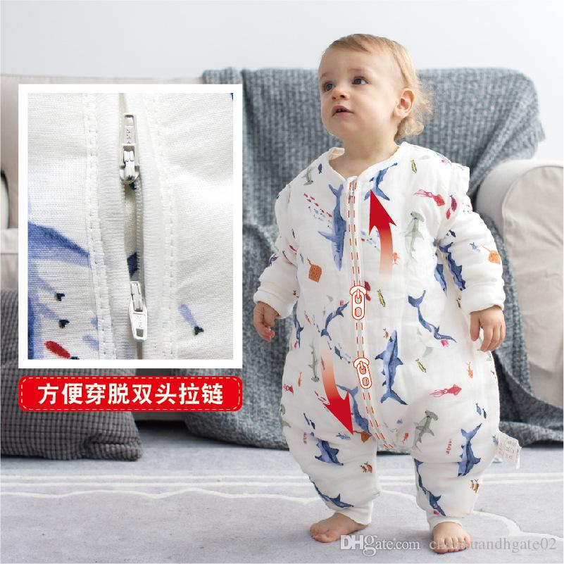 2018 new Winter Jumpsuit Baby addensare Plus velluto snowsuit Snow Wear panni per dormire Boy Warm Pagliaccetto del cotone Neonati maschi vestiti della ragazza Tuta