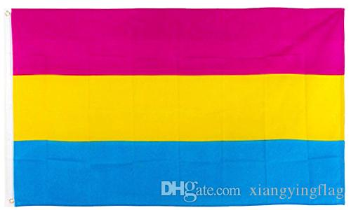 direkter Neupreis 100% Polyester 90 * 150cm Allseitiger LGBT-Stolz