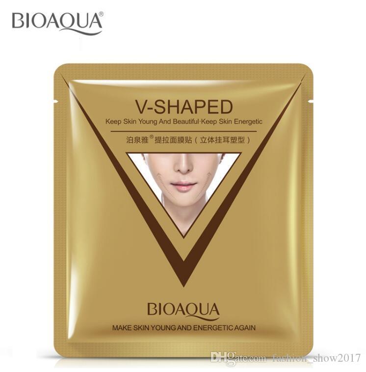 Bioaqua en forma de V estilo facial Reducir Facial Reducir Facilitación Levantamiento de lazo Facilitación de la cara Apriete la máscara de la mejilla de la barra V-Line JVBWJ