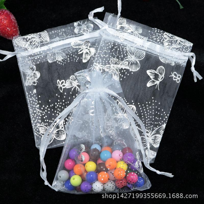 Оптовая бабочка органзы мешок 7x9 / 9X12 / 13X18 см, 100 шт. / лот свадебные украшения упаковка сумки, подарочные пакеты, много цветов