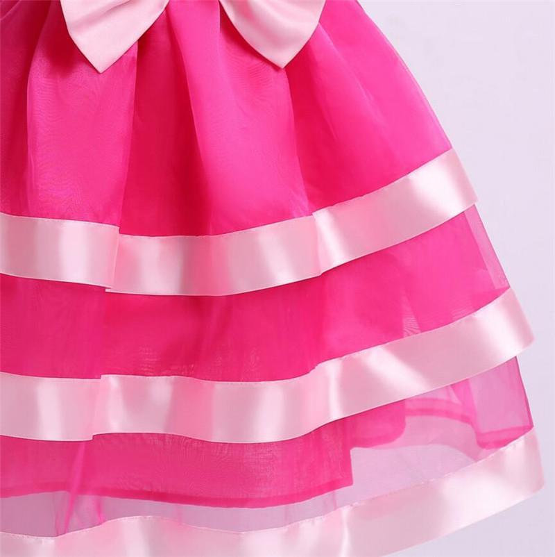 6b5f217d1b544 ... Cuhk enfants dentelle robe en mousseline de soie robe fille rose rose  robes sans manches Back