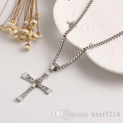 Européens et américains multicouche croix pendentif étoile collier en acier inoxydable vente chaude bijoux amoureux pendentif livraison gratuite