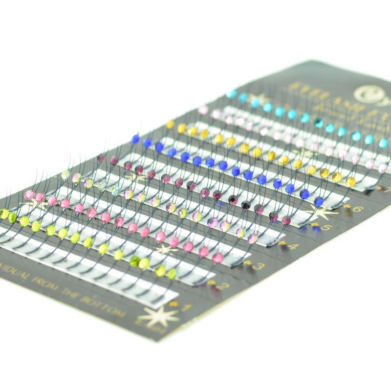 Eyemix 8 couleurs Y paillettes scintillantes extension de cils individuels arc en ciel populaire arc-en-ciel coloré diamant faux cils livraison gratuite