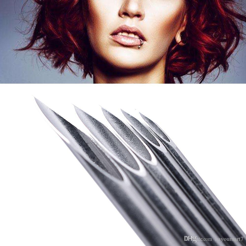 Piercing İğneler Seti Göbek Dil Kaş Meme Dudak Burun Tek Kullanımlık Vücut Piercing Takı Aracı Setleri Yüzük Cosing Pense
