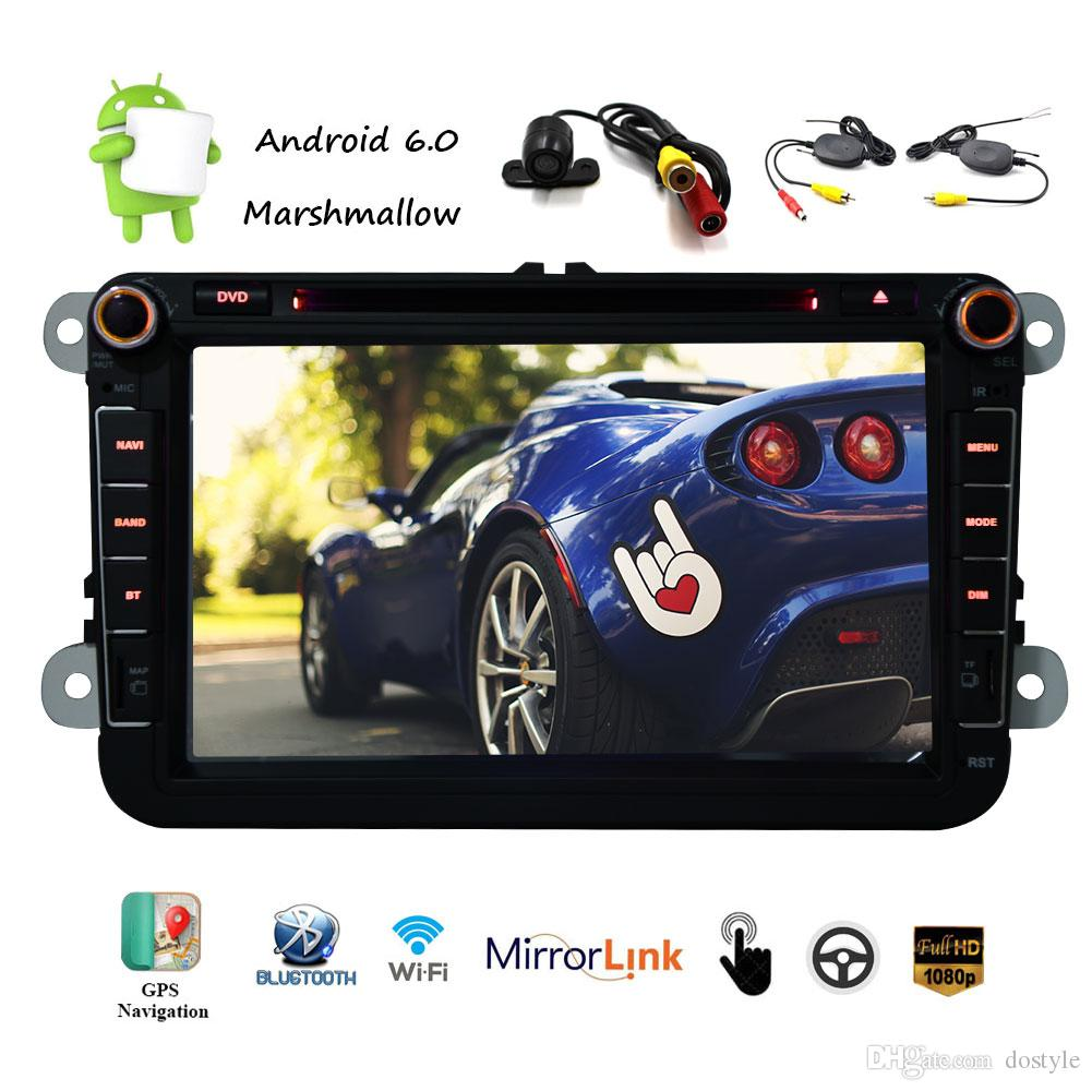 Android 6.0 Car DVD Player 8'' Capacitive Touch Screen Radio Stereo HD 1080p GPS Navigation Multi Player 1G+16G Memory Flash Wifi Vehicle