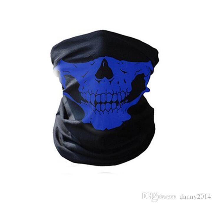 hot Skull masks Multi Function outdoor sports Bandana Ski Motorcycle Biker Scarf Face Masks cycling riding Biker Headband wraps