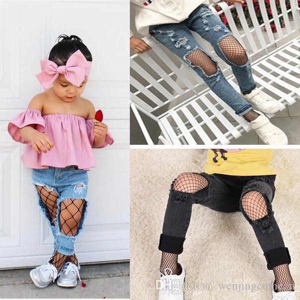 새로운 패션 키즈 아기 소녀 블랙 메쉬 유아 아기 소녀 의류 어린이 Fishnet 레깅스 다리 따뜻하게 소녀