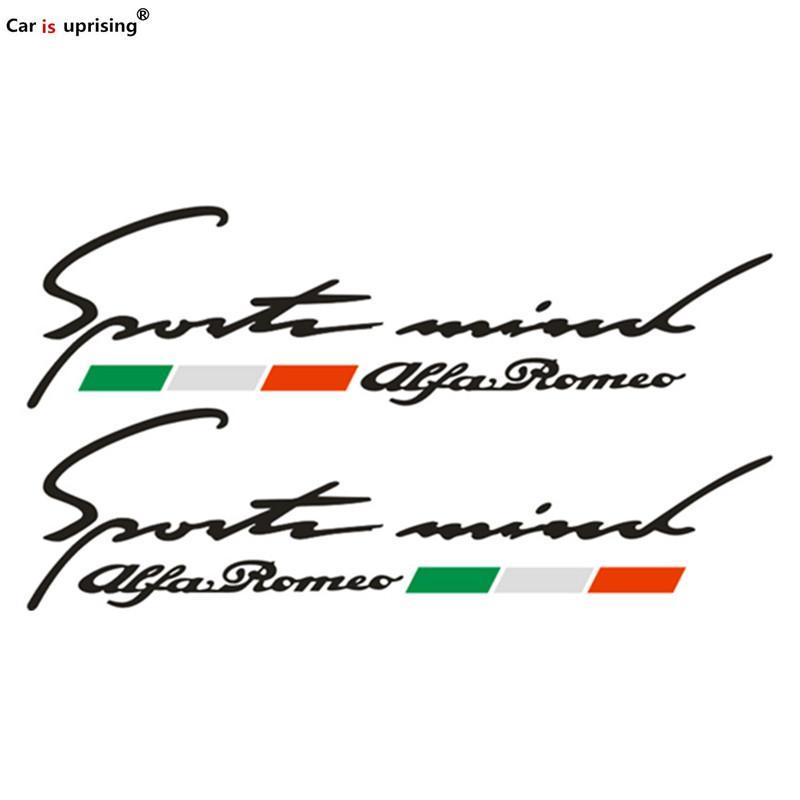 2 PCS NOUVEAU pour Alfa Romeo Drapeau de l'Italie Car Side Fender Emblème Badge Autocollant pour 4C 147 156 166 159 Giulietta Giulia Spider GT