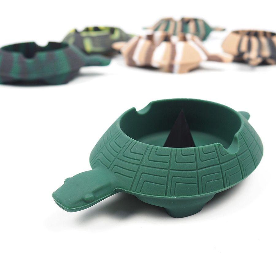 Центр Ashtray черепахи силикона наградной стеклянный Содружественный выстукивая ломкий обломок / теплостойкое до 270°F! Держит сигареты тупит