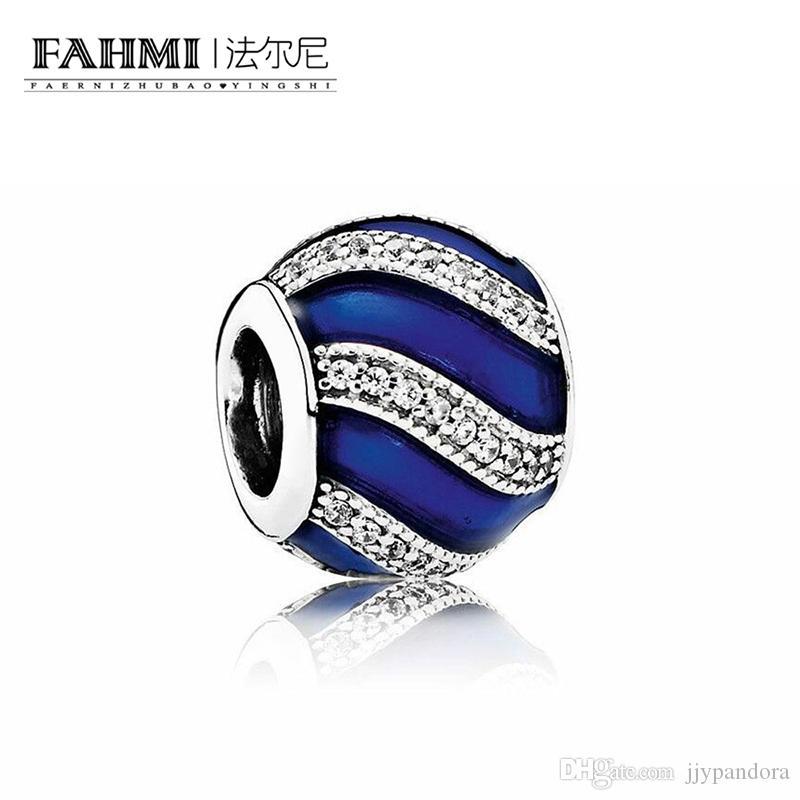Fahmi 100% 925 Sterling Silver 1: 1 Oryginalny 791991EN118 Autentyczne Temperament Moda Glamour Retro Bead Wedding Women Jewelry