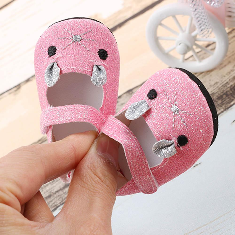 1 Pair Doll Dress Up Shoe 18 Inch 45cm American Girl Doll Shoes Mini Leather Shoes For Baby Doll Accessories