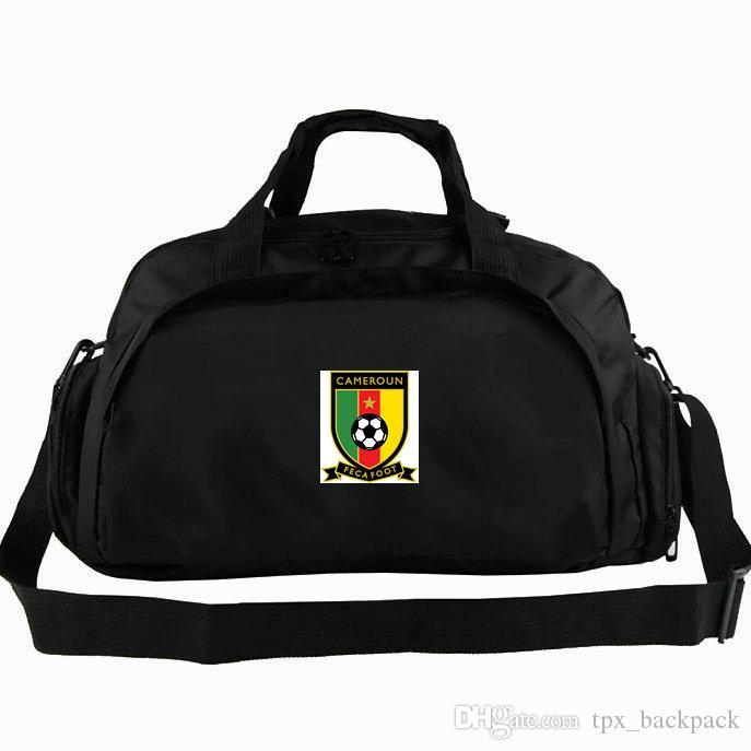 Camerun borsone Camerun a totalizzatore nazionale Feca squadra piede di calcio zaino calcio 2 vie duffle spalla uso bagagli Sport Badge fionda confezione