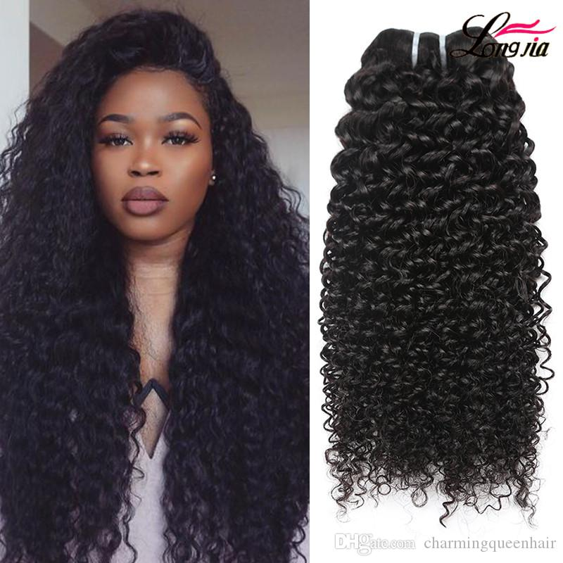 Unprocessed Peruvian Kinky Curly Deep Wave Hair Extension Cheap Human Hair Extension Dyeable Peruvian Virgin Hair Kinky Curly Natural Black Human Hair