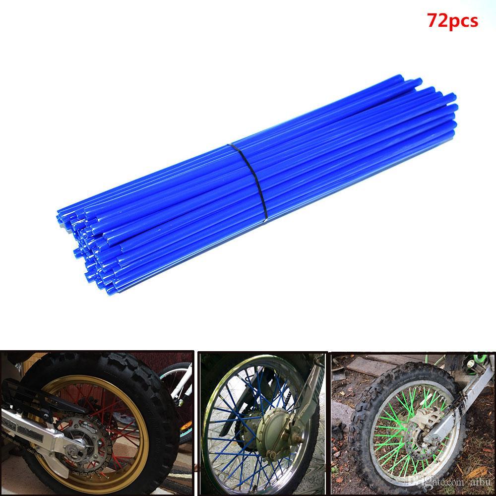 For Dongzhen 72pcs colorful fluorescent Motors cycle cover rim spoke skins wrap tubes universal for dirt bike ATV quad mini Motors