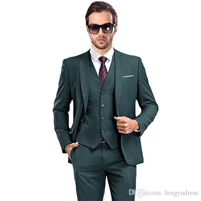 2018 fengyudress custom pink one button wedding suits for men peaked lapel coat pant design images 3 pieces men suits(jacket+vest+pants)
