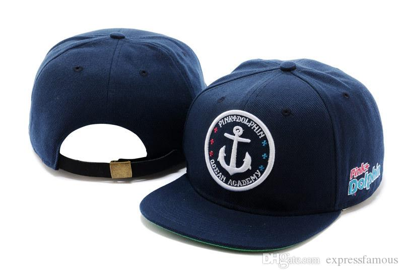 2020 Atacado marca quente Snapback alta qualidade Pink Dolphin snapbacks Caps Cheap Baseball Pressão para trás Cap Moda Hip Hop chapéus
