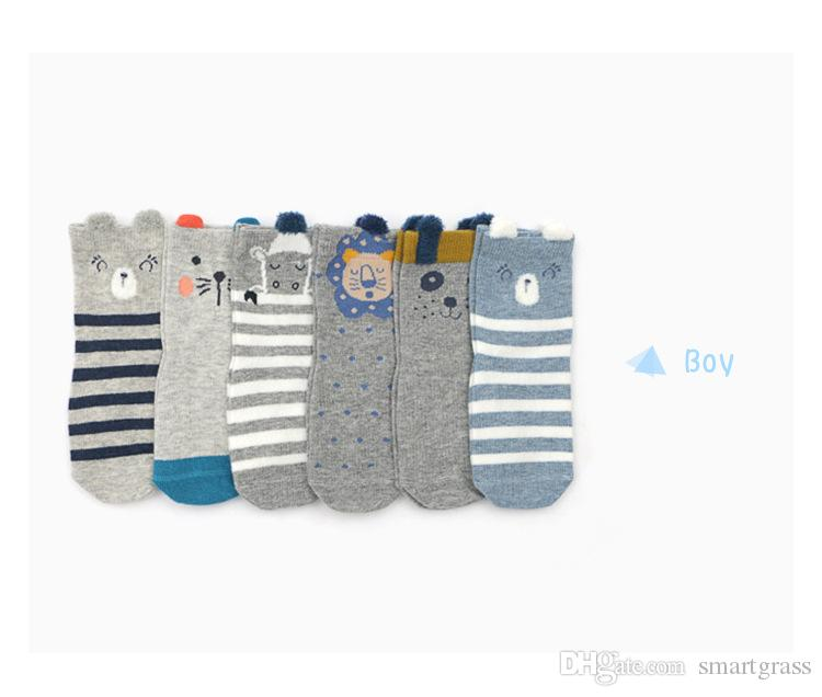 Lovely Toddler Unisex Baby Girls Boys Anti-Slip Cotton Socks Cute Cartoon Hot US