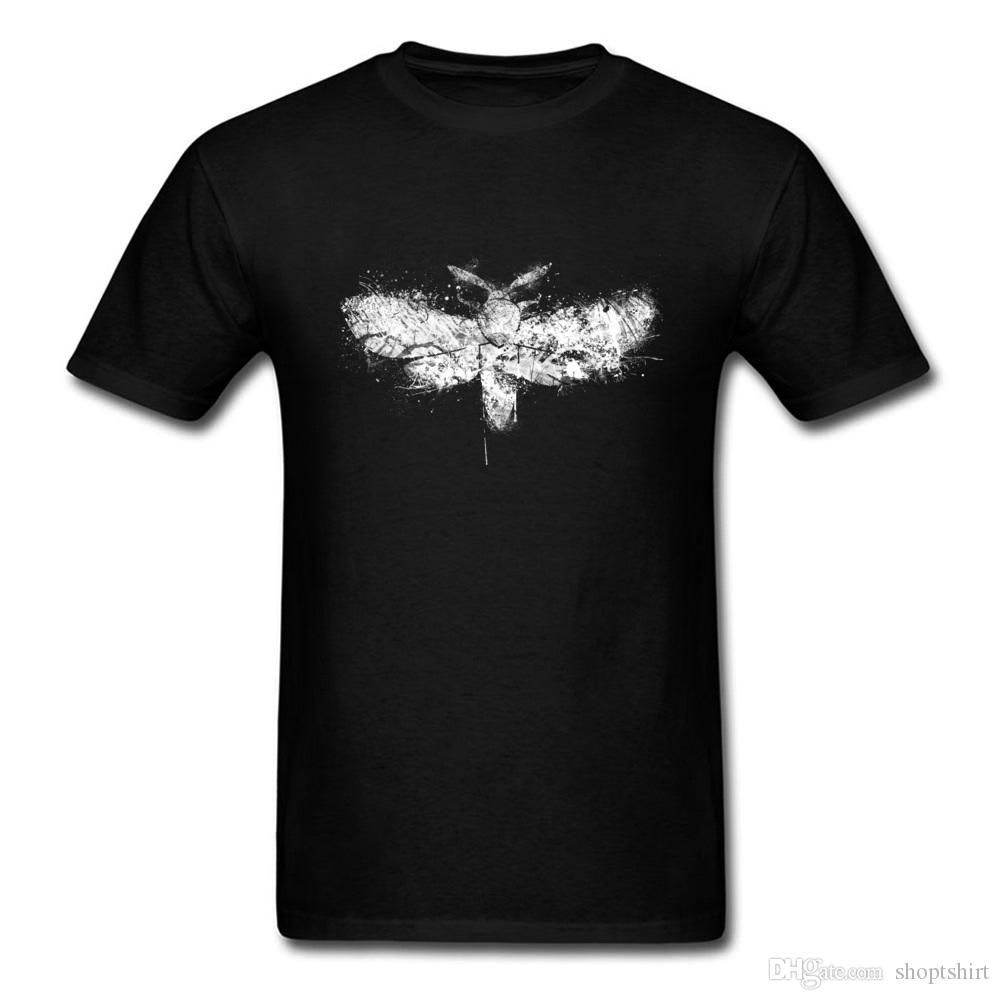 Retro Paint Splatter Moth Printing Casual Tee Shirts Awesome College Tshirt 100% Cotton Round Collar Loose Fitness T Shirt
