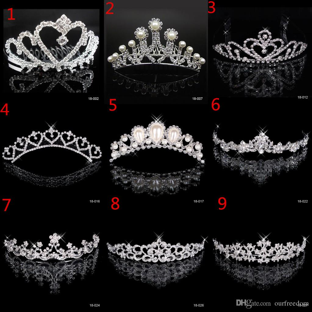 In Stock Free Shipping Rhinestone Crystal Wedding Party Prom Homecoming Crowns Band Princess Bridal Tiaras Hair Accessories Fashion