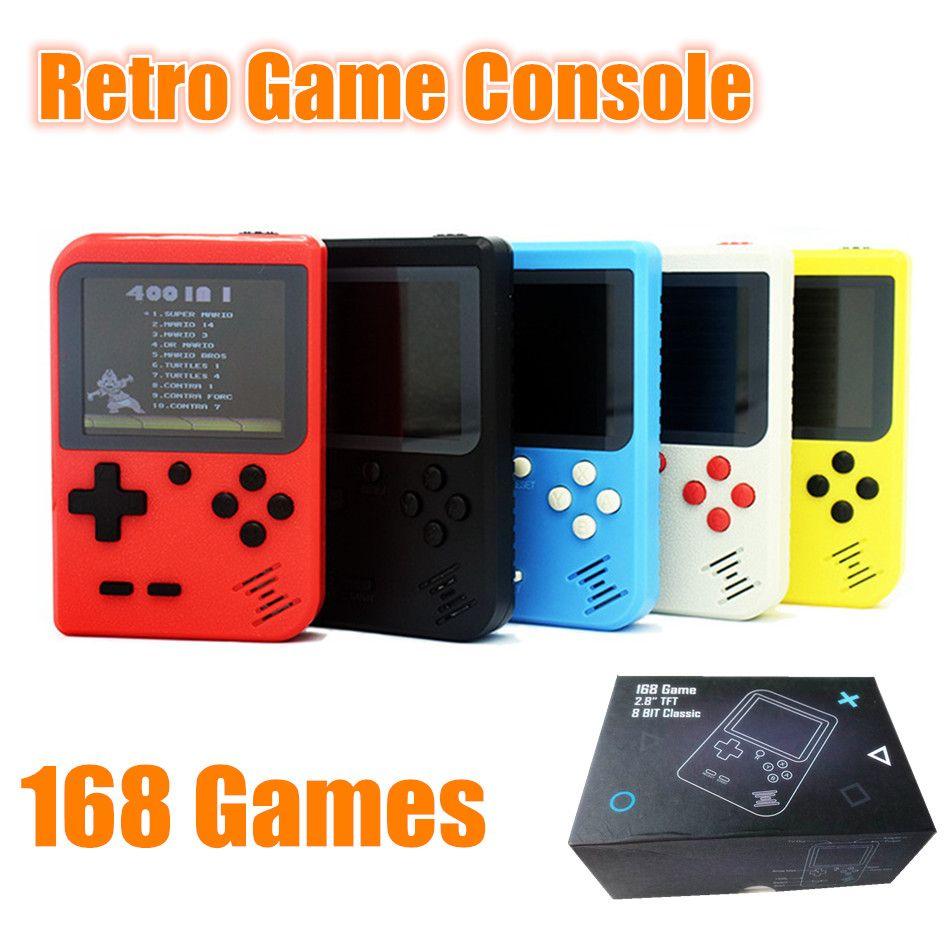 """1 console de jeu portable rétro PCS RS-6 pour jeux FC 8 bits, 2.8 """"pouvant stocker 168 jeux pour enfants"""