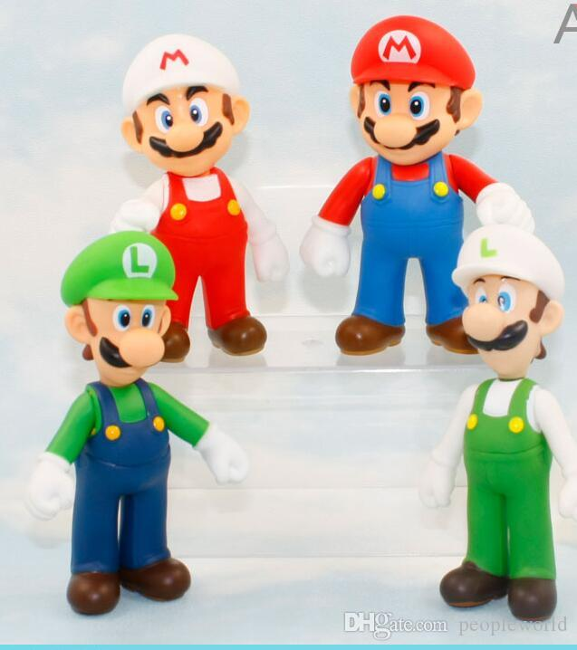 "5/"" Fire Mario Action figures Doll Free SHIPPING New Super Mario Bros"