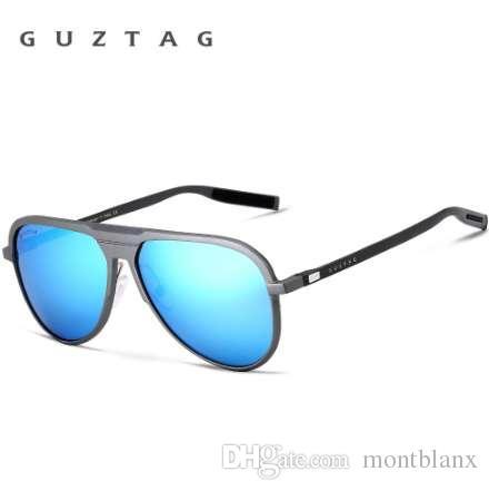 GUZTAG Unisex Marca Clásica Hombres gafas de Sol de Aluminio HD Espejo Polarizado UV400 Hombre Gafas de Sol Mujeres Para Hombres Oculos de sol G9828