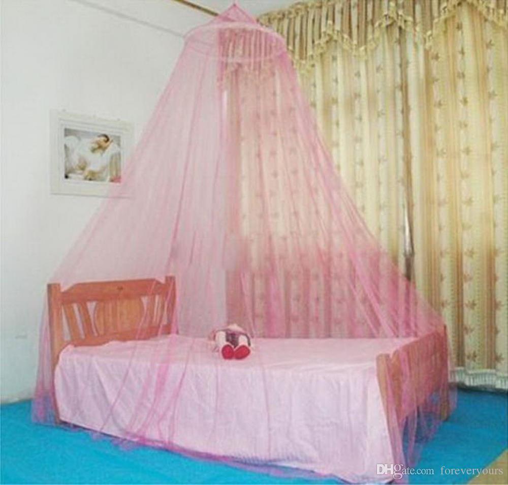 Encaje redondo al aire libre Insecto Cama Canopy Net Cortina Hung Dome Mosquiteras