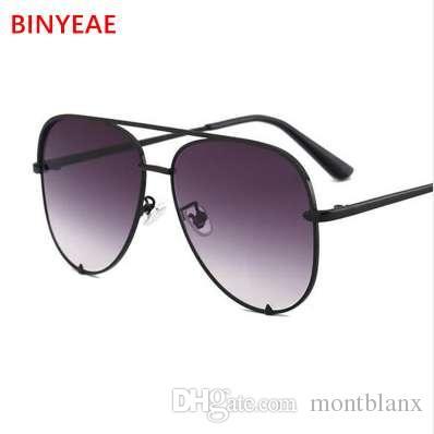 fashion flat top glasses Black gradient women's sunglasses brand designer oculos aviador mirror shades sun glasses female