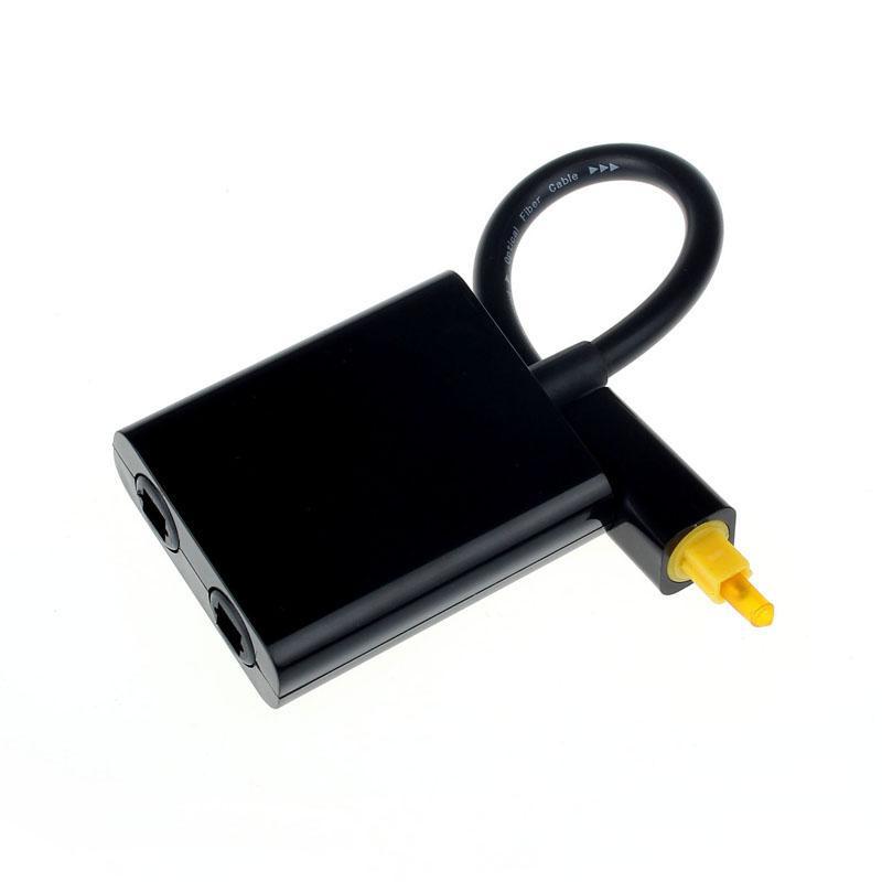 Mini USB Numérique Toslink Fibre Optique Audio 1 à 2 Femelle Adaptateur Splitter Accessoire Câble USB Usb