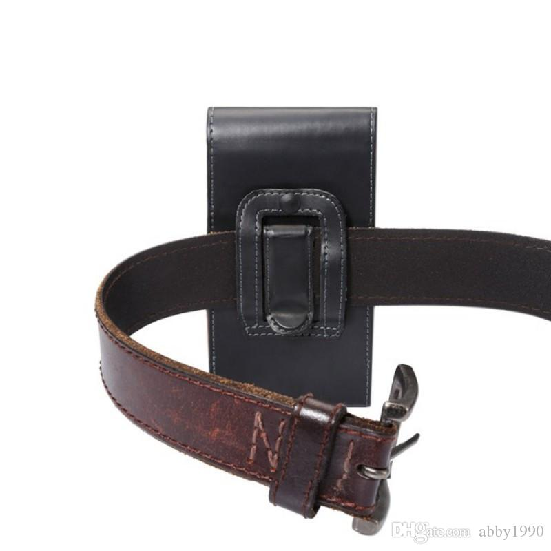 Universal Belt Clip PU Leather Waist Holder Flip Pouch Case for ZTE Grand X Max 2/Grand Memo V9815/Boost Max N9520