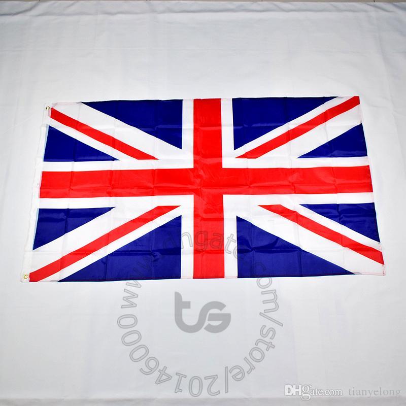 Reino Unido Reino Unido Grã-Bretanha Inglaterra bandeira nacional gratuito 3x5 transporte FT / 90 * 150 centímetros Hanging Bandeira nacional Decoração bandeira da bandeira