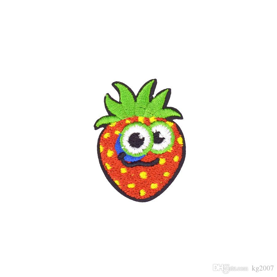 10PCS Diy Delicious Cute Strawberry Patches for Applique Striped Embroidery Clothing Patches for Garment Sewing Supplies Accessories Patch