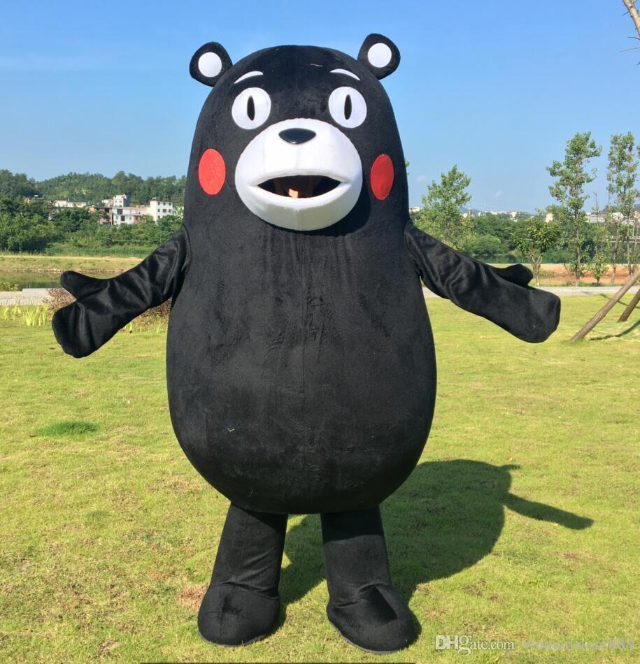 Кумамон костюм талисмана Cospaly японский черный медведь персонажа из мультфильма для взрослых Хэллоуин карнавальный костюм Костюм