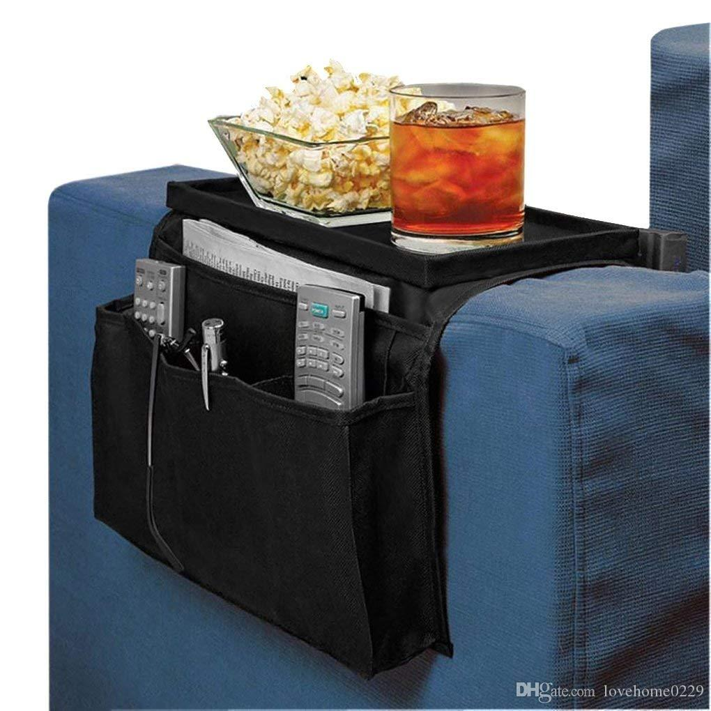 Armrest Caddy Pocket Organizer Side Sofa Things Holder Remote TV Accessories