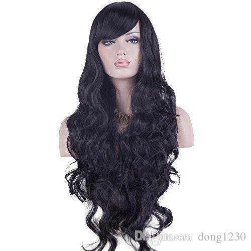 """32 """"perruques de Cosplay longues cheveux bouclés résistant à la chaleur de cheveux de perruque pour Wome"""